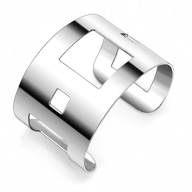 LO482 -  Stainless Steel Bangle with No Stone