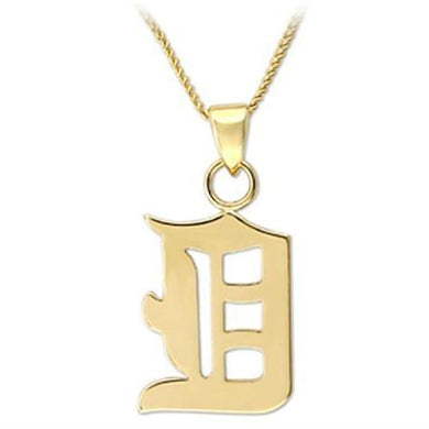 LO688 - Gold Brass Chain Pendant with No Stone