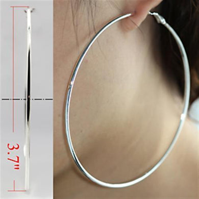 LO771 - Silver Brass Earrings with No Stone