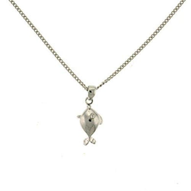 LOA431 Rhodium Brass Necklace with Top Grade Crystal in Clear