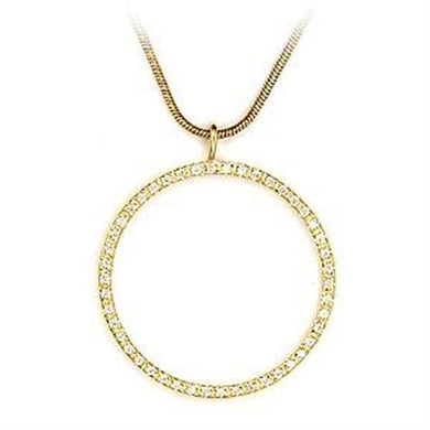 LOA485 - Gold 925 Sterling Silver Pendant with AAA Grade CZ  in Clear