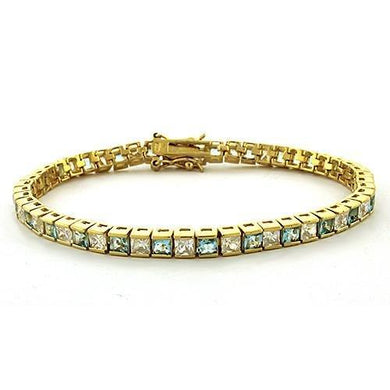 LOAS1315 - Gold 925 Sterling Silver Bracelet with AAA Grade CZ  in Clear