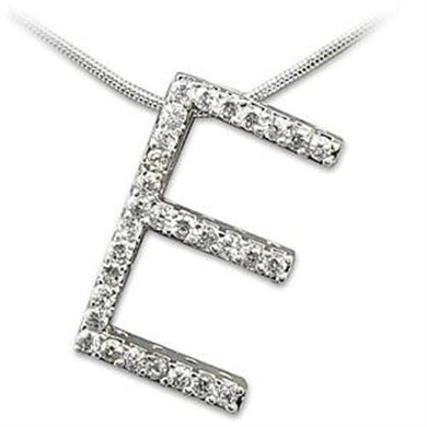 LOAS804 - Rhodium 925 Sterling Silver Pendant with AAA Grade CZ  in Clear