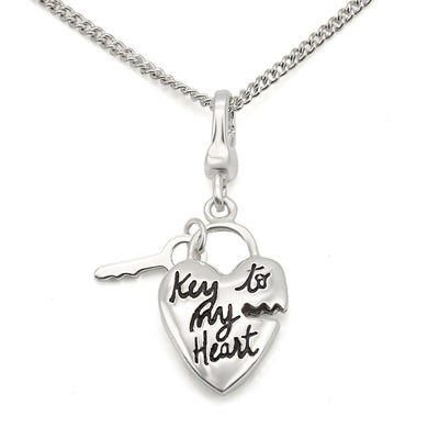 LOS430 - Silver 925 Sterling Silver Chain Pendant with No Stone