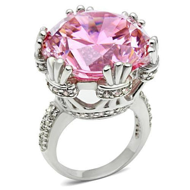 LOS530 - Silver 925 Sterling Silver Ring with AAA Grade CZ  in Rose