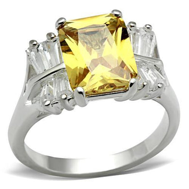 SS012 - Silver 925 Sterling Silver Ring with AAA Grade CZ  in Topaz