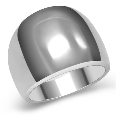 TK034 - High polished (no plating) Stainless Steel Ring with No Stone