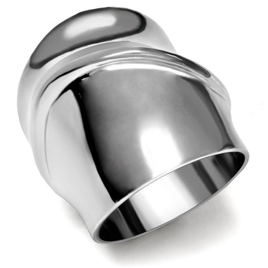 TK036 - High polished (no plating) Stainless Steel Ring with No Stone