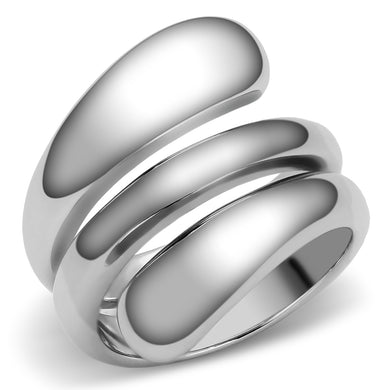 TK037 - High polished (no plating) Stainless Steel Ring with No Stone