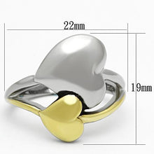 Load image into Gallery viewer, TK1091 - Two-Tone IP Gold (Ion Plating) Stainless Steel Ring with No Stone