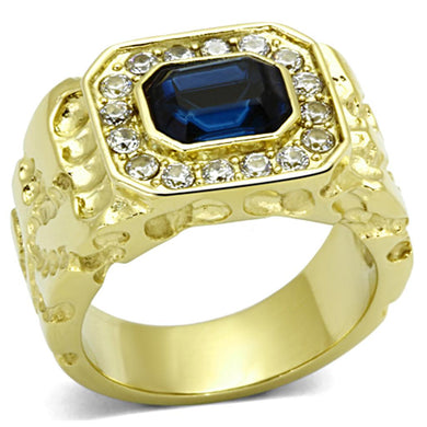 TK1192 - IP Gold(Ion Plating) Stainless Steel Ring with Top Grade Crystal  in Montana