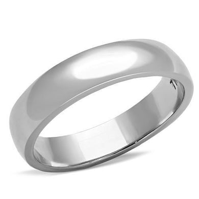 TK1375 - High polished (no plating) Stainless Steel Ring with No Stone