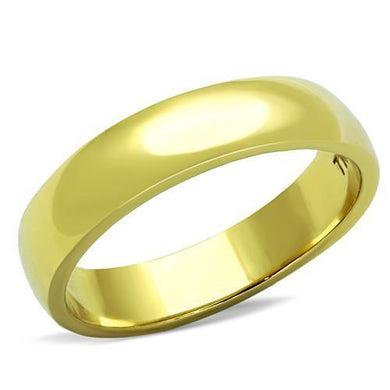 TK1375G - IP Gold(Ion Plating) Stainless Steel Ring with No Stone