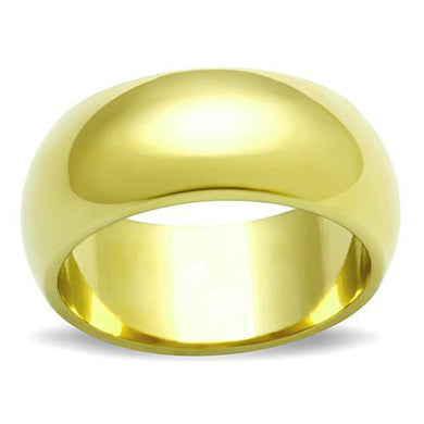 TK1391 - IP Gold(Ion Plating) Stainless Steel Ring with No Stone