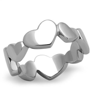 TK1433 - High polished (no plating) Stainless Steel Ring with No Stone