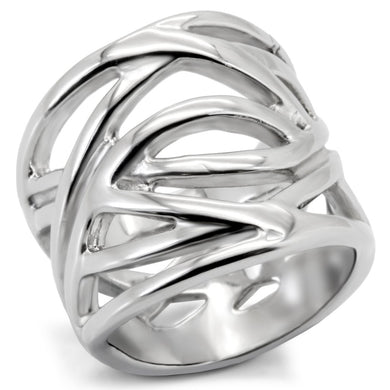 TK144 - High polished (no plating) Stainless Steel Ring with No Stone