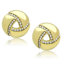 Load image into Gallery viewer, TK1499 - IP Gold(Ion Plating) Stainless Steel Earrings with Top Grade Crystal  in Clear