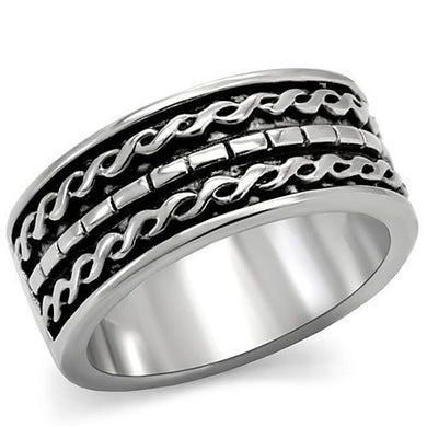 TK158 - High polished (no plating) Stainless Steel Ring with No Stone