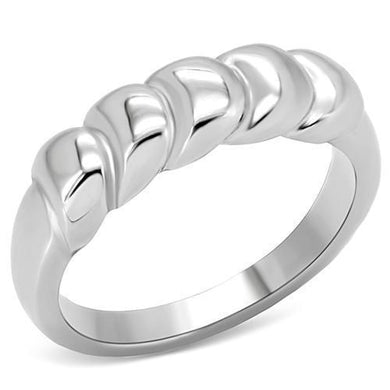 TK159 - High polished (no plating) Stainless Steel Ring with No Stone