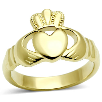 TK160G - IP Gold(Ion Plating) Stainless Steel Ring with No Stone