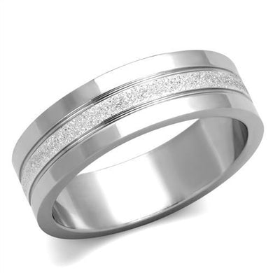 TK1668 - High polished (no plating) Stainless Steel Ring with No Stone