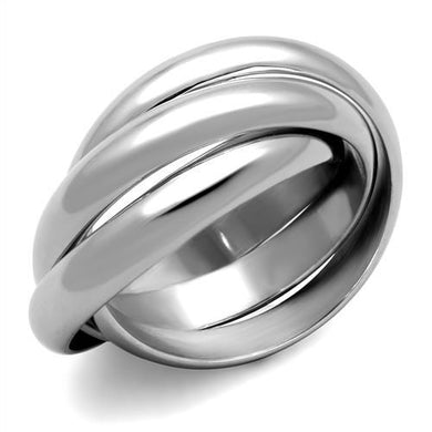 TK1669 - High polished (no plating) Stainless Steel Ring with No Stone