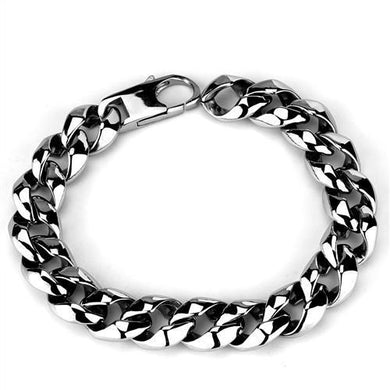 TK1975 - High polished (no plating) Stainless Steel Bracelet with No Stone