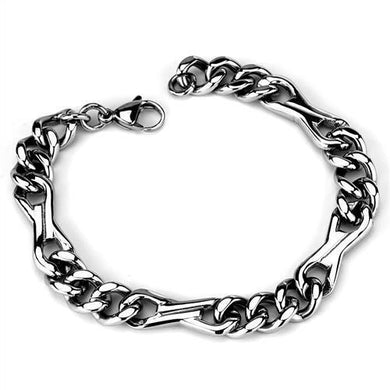 TK1976 - High polished (no plating) Stainless Steel Bracelet with No Stone