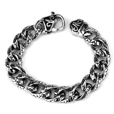 TK1977 - High polished (no plating) Stainless Steel Bracelet with No Stone