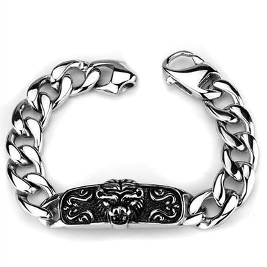 TK1978 - High polished (no plating) Stainless Steel Bracelet with No Stone