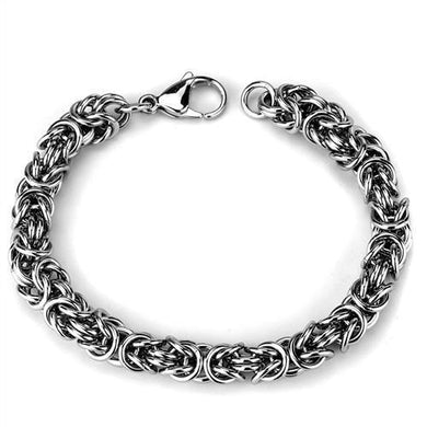 TK1979 - High polished (no plating) Stainless Steel Bracelet with No Stone