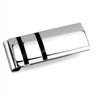 TK2071 - High polished (no plating) Stainless Steel Money clip with No Stone