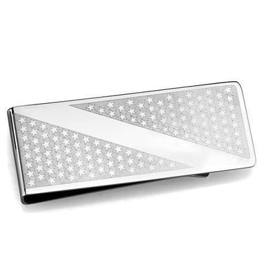 TK2080 - High polished (no plating) Stainless Steel Money clip with No Stone