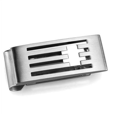 TK2083 - High polished (no plating) Stainless Steel Money clip with No Stone