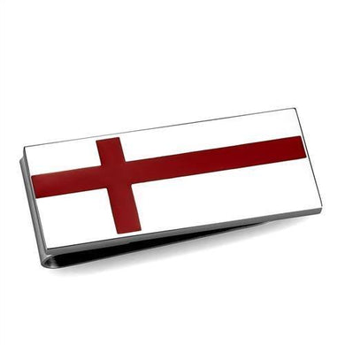 TK2089 - High polished (no plating) Stainless Steel Money clip with No Stone