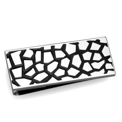 TK2091 - High polished (no plating) Stainless Steel Money clip with No Stone