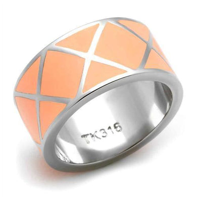 TK218 - High polished (no plating) Stainless Steel Ring with No Stone