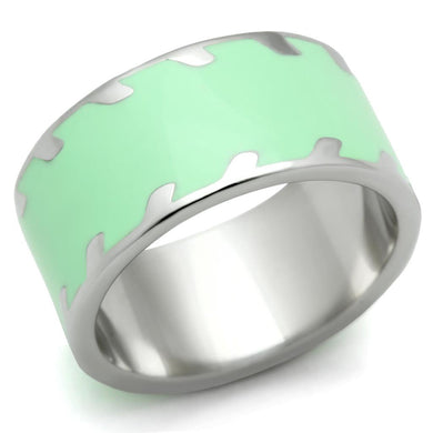 TK222 - High polished (no plating) Stainless Steel Ring with No Stone