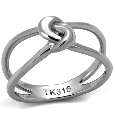 TK2262 - High polished (no plating) Stainless Steel Ring with No Stone