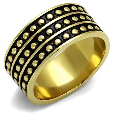 TK2312 - IP Gold(Ion Plating) Stainless Steel Ring with Epoxy  in Jet
