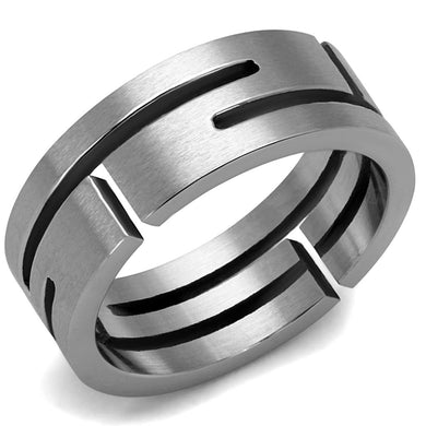 TK2393 - High polished (no plating) Stainless Steel Ring with No Stone