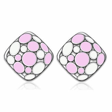 TK239 - High polished (no plating) Stainless Steel Earrings with No Stone