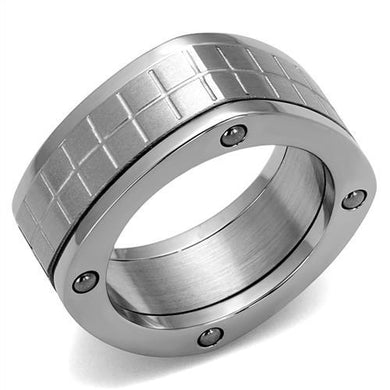 TK2405 - High polished (no plating) Stainless Steel Ring with No Stone