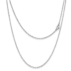 TK2422 - High polished (no plating) Stainless Steel Chain with No Stone