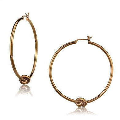 TK2853 - IP Coffee light Stainless Steel Earrings with No Stone