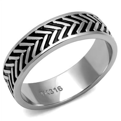 TK2899 - High polished (no plating) Stainless Steel Ring with No Stone