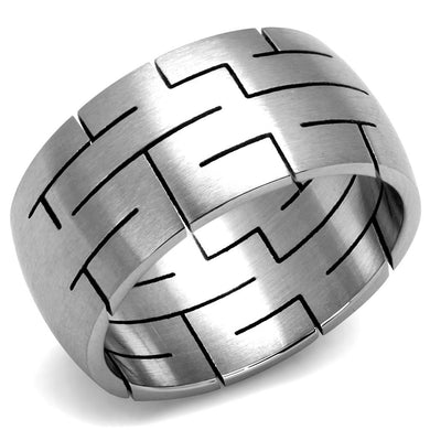 TK2920 - High polished (no plating) Stainless Steel Ring with No Stone