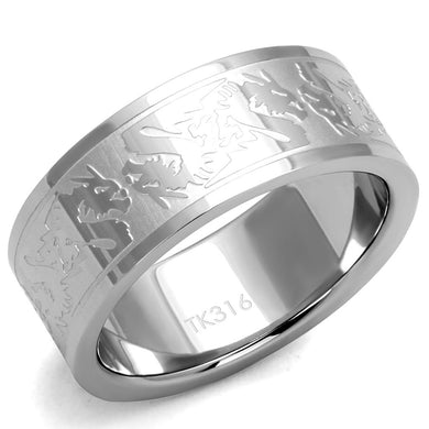 TK2940 High polished (no plating) Stainless Steel Ring with No Stone in No Stone