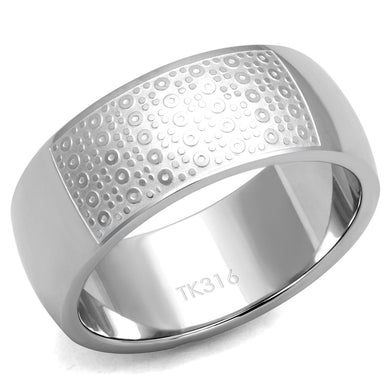 TK2945 - High polished (no plating) Stainless Steel Ring with No Stone