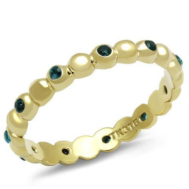 TK3086 - IP Gold(Ion Plating) Stainless Steel Ring with Synthetic Synthetic Glass in Montana